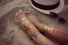 Gold and Silver Metallic Tattoos by LialenTattoos on Etsy