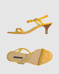 Chelsea Crew Nirvana Mid Heel Sandal - Yellow | Shoe box ...