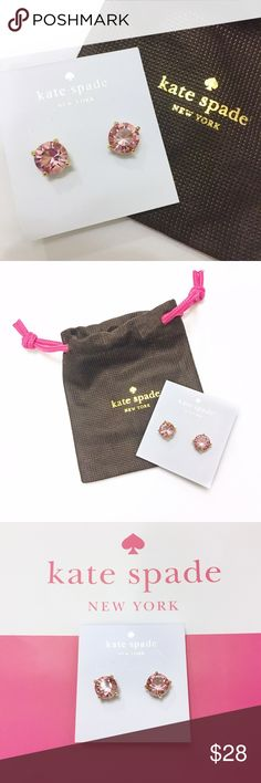 NEW Kate Spade Gumdrop Stud Earrings, pink/gold Beautiful pink and gold Stud Earrings that can go with anything. Comes with dust bag. Order now, it won't last! kate spade Jewelry Earrings