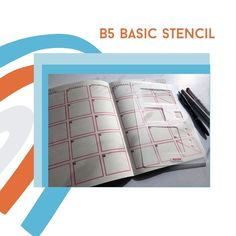 Size does matter. Do you like your bujo big? Like B5 big? Well great news for you. There is now an entire line of bullet journaling products just for you. There is a B5 ruler, a B5 Basic Stencil and a B5 Rows and Columns Card. #B5journal #bulletjournal Bullet Journal Stencils, Bullet Journal Layout, Save Yourself, Finding Yourself, Connected Learning, Bullet Journal For Beginners, Task Boxes, Moleskine, Scribble