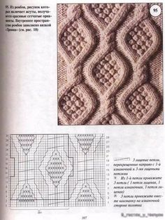 Knitting pattern with knitting script – knitting and crochet – knitting pattern for babies – The Best Ideas Aran Knitting Patterns, Knitting Stiches, Cable Knitting, Knitting Charts, Knit Patterns, Crochet Stitches, Hand Knitting, Stitch Patterns, Crochet Yarn