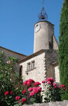 Ansouis 16th-century half-round clock tower and campanile