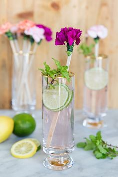 Pretty blooms to garnish your spring drinks! @camillestyles