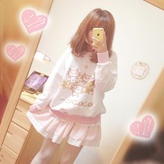 "Harajuku cute cat loose sweatshirt $27.00 Cute Kawaii Sweet Fashion Clothing & Accessories Online Store. Via:http://cuteharajuku.storenvy.com. Style:cute kawaii Material:cotton blend  Size:one size Shoulder:40cm/15.74"" Bust:104cm/40.94"" Sleeve length:59cm/23.22"" Length:64cm/25.19""  Tips: *Please double check above size and consider your measurements before ordering,thank you ^_^  Visiting Store: Http://cuteharajuku.storenvy..."
