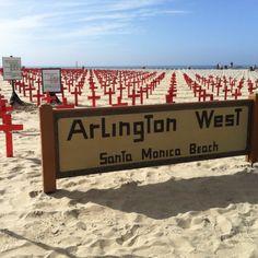 Santa Monica Beach. Arlington West.