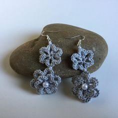 Crochet earrings crochet flower earrings by MiracleBabyStore                                                                                                                                                                                 More