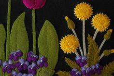 Appliques de laine motif Dandy printemps tableau mural de by HorseAndBuggyCountry | Etsy