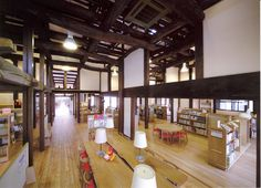 Kazo City Library : Neue, Saitama Japan   加須市立童謡のふる里おおとね図書館(ノイエ)児童開架室
