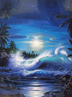 Maui Moon II AP by Christian Riese Lassen, Limited Edition Print, Artagraph