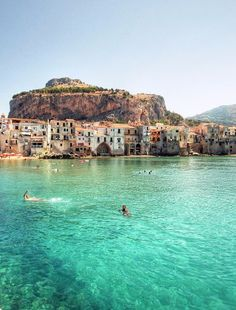 clear waters in Cefalù (Sicily)