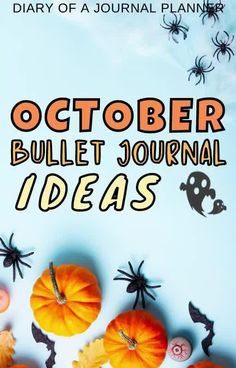 Plan your October bullet journal spreads with these brilliant halloween-themed ideas! #halloween #bulletjournalideas Bullet Journal Printables, Bullet Journal Themes, Bullet Journal Spread, Bullet Journal Inspiration, Fun Halloween Games, Halloween Party Themes, Journal Covers, Journal Pages, Halloween Doodle