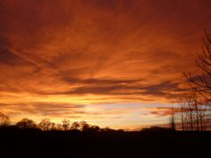 Sunset at Walton Thorns Farm