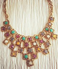 Square Jewel Necklace - Modeets.com
