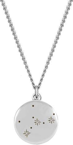 a1dea263a37353 No 13 - Virgo Zodiac Constellation Necklace Diamonds & Silver  http://Shopstyle