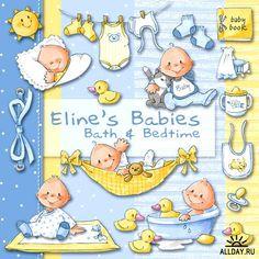 Скрап-набор - Eline Babies Bath