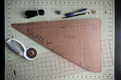 Frame bag template for bikepacking