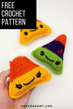 Make your very own cute candy corn candy for Halloween! Get started with amigurumi with this crochet pattern for spooky season. Create your own cute candy corn with this easy and unique crochet pattern. Cute and kawaii, this basic and beginner friendly DIY project is perfect for any crocheter that loves fall and halloween. This stuffed animal amigurumi is perfect for home decor. Great project for the holidays! Stuffed animal plushie that can be made quickly. Simple Crochet, Unique Crochet, Easy Crochet Patterns, Free Crochet, Crochet Hats, Beginner Crochet Projects, Crochet For Beginners, Cute Candy, Learn To Crochet