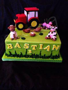 Farm Cake, Traktor Cake, Animal Cake Farm Cake, Fondant, Animal, Desserts, Food, Farm Gate, Pies, Bakken, Tailgate Desserts