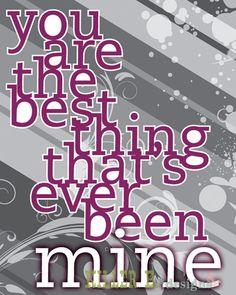 """""""Mine"""" lyrics free printable"""