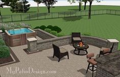 Simply construct the 775 sq. ft. Creative Brick Patio Design with Pergola and Hot Tub with our easy to follow downloadable  ..   - CLICK PIC for Many Patio Ideas, Patio Furniture and other Perfect Patio Inspiration. #patio #backyard