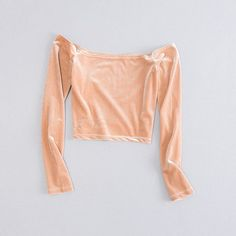Cheap velvet puff, Buy Quality t-shirt ladies directly from China velvet jewelry gift box Suppliers: Casual Chic sexy off shoulder crop top velvet slim t-shirts for women 2017 summer slash neck long sleeve t shirt tees ladieswear Cropped Tank Top, Crop Tops, Tank Tops, Velvet T Shirt, Velour Tops, T Shirts For Women, Clothes For Women, Sleeves, Shoulder