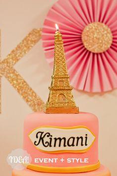 Paris Party #eiffeltower #cake
