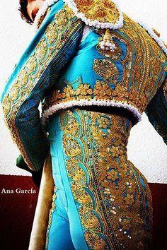 Amazing Matador Costume |    The embroidery is truly thread painting...  |    #spain #matador #costumes #embroidery #spanishstylewedding