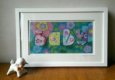 Contemporary Embroidered Textile Art  'Baby' by Belinda Latimer Designs. £120.