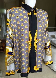 0d505124 32 Best night out images | Mens shirts uk, Versace shirts, Gianni ...