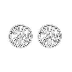 Fink's Jewelers - Fink's Classic Monogram Stud Earrings (10mm), $165.00 (http://finksjewelers.com/finks-classic-monogram-stud-earrings-10mm/)