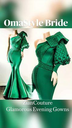 Glamorous Evening Gowns, Designer Evening Gowns, Evening Dresses, Stylish Dress Designs, Stylish Dresses, Elegant Dresses, African Attire, African Dress, Classy Dress