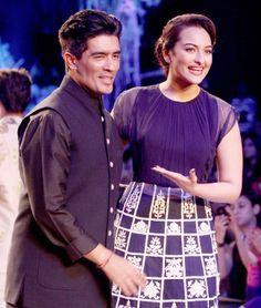 manish storysize 650 031214055722 Actress Sonakshi on ramp Opening LFW  Manish Malhotra