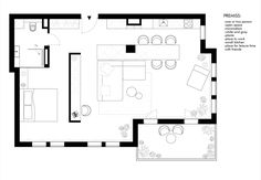 apartment floor plans Wilanow Warsaw Apartment is a beautiful rendering of a modern apartment designed by Polish designer, Monika Siwiska. Studio Floor Plans, Small Floor Plans, Small House Plans, House Floor Plans, Small Apartment Plans, Apartment Floor Plans, Small Apartments, Casa Loft, Modern Apartment Design