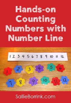 Practice numbers and counting with this easy to make hands-on counting and number line activity!