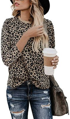 Looking for Women's Casual Cute Shirts Leopard Print Tops Basic Short Sleeve Soft Blouse ? Check out our picks for the Women's Casual Cute Shirts Leopard Print Tops Basic Short Sleeve Soft Blouse from the popular stores - all in one. Cute Blouses, Cute Shirts, Polo Shirts, Leopard Print Top, Leopard Blouse, Short Tops, Casual Tops, Casual Shirts, Long Sleeve Tops
