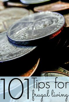 101 Tips for Frugal Living. Yes, there are really that many tips in this post! http://gradmoneymatters.com/gmm/101-tips-for-frugal-living.html