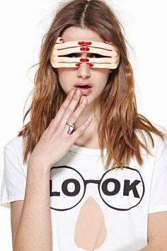 Linda Farrow X Jeremy Scott Hand Glasses