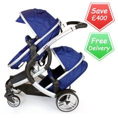 Buy iSafe Me & You Tandem Pram Navy online at the best price. UK & ROI delivery. Payment plans available. Baby pram store in Belfast.