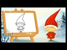 Video of how to draw Santa Claus for children. Christmas Hacks, Winter Christmas, Core French, French Class, French Teaching Resources, French Education, French Language Learning, Theme Noel, Kawaii Drawings