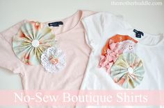 No sew girls boutique shirts tutorial