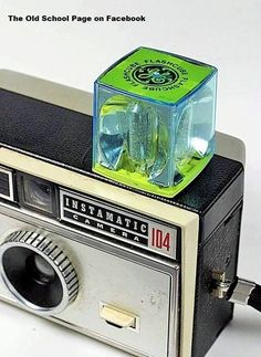 Vintage KODAK Instamatic camera with Big old GE flash cube. My Childhood Memories, Childhood Toys, Great Memories, Ol Days, Vintage Cameras, Do You Remember, My Memory, The Good Old Days, Radios