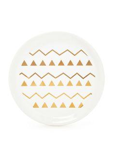 Metallic Geo Graphic Jewelry Plate | Forever 21 - 1000095616