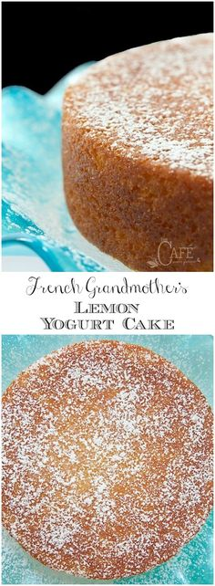 This fabulous French Grandmother's Lemon Yogurt Cake has a really fun history. It's also moist, super delicious and can be thrown together in minutes! via cake French Grandmother's Lemon Yogurt Cake 13 Desserts, Lemon Desserts, Delicious Desserts, Dessert Recipes, Yummy Food, Baking Desserts, Picnic Recipes, Health Desserts, Plated Desserts