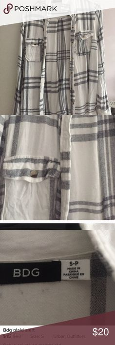 Bdg plaid shirt Worn a couple of times Urban Outfitters Tops