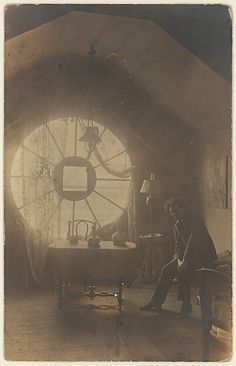 Brassaï in His Berlin Studio, 1921. Brassaï (1899-1984) was a Hungarian photographer, sculptor, writer, and filmmaker who rose to international fame in France in the 20th century. He was one of  numerous Hungarian artists who flourished in Paris beginning between the World Wars.
