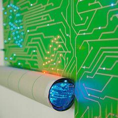 Futuristisch LED behang van Ingo Maurer