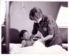 Lt. Mary Heath at the 18th Surgical Hospital in Vietnam.  Army Nurse Corps historical photo | Flickr - Photo Sharing!
