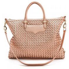 Ashley Benson Rebecca Minkoff Bonnie satchel in Rose Gold