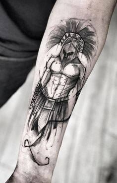 40 Awesome Gladiator Tattoos to Get Inspired - Photos and Tattoos - 40 Awesome Gladiator Tattoos to Get Inspired – Photos and Tattoos Informations About 40 Tatuagens - Full Arm Tattoos, Leg Tattoos, Small Tattoos, Sleeve Tattoos, Tattoos For Guys, Tatoos, Calf Tattoo Men, Forearm Tattoo Men, Arm Band Tattoo
