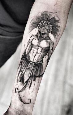 40 Awesome Gladiator Tattoos to Get Inspired - Photos and Tattoos - 40 Awesome Gladiator Tattoos to Get Inspired – Photos and Tattoos Informations About 40 Tatuagens - Full Arm Tattoos, Leg Tattoos, Small Tattoos, Sleeve Tattoos, Tatoos, Calf Tattoo Men, Forearm Tattoo Men, Arm Band Tattoo, Gott Tattoos